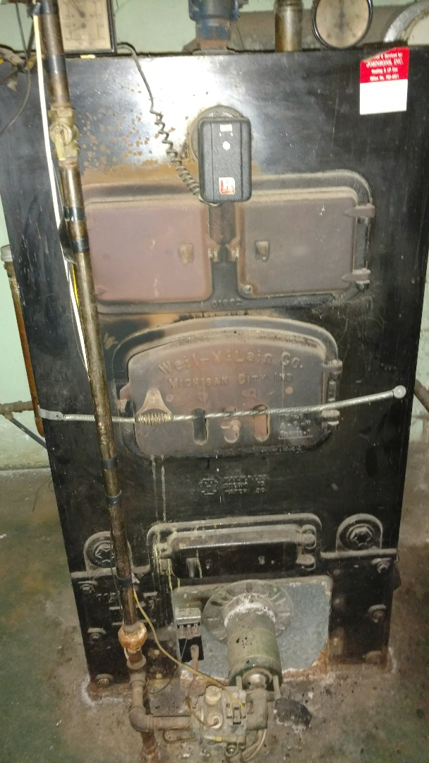 Replace pump coupling on Burnham boiler