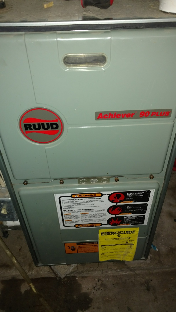 Ladysmith, WI - Replace combustion blower on Rheem Ruud Achiever 90 plus furnace.