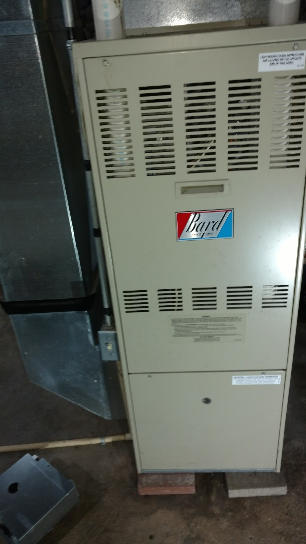 Replace circuit board on Bard DCH LP gas furnace.