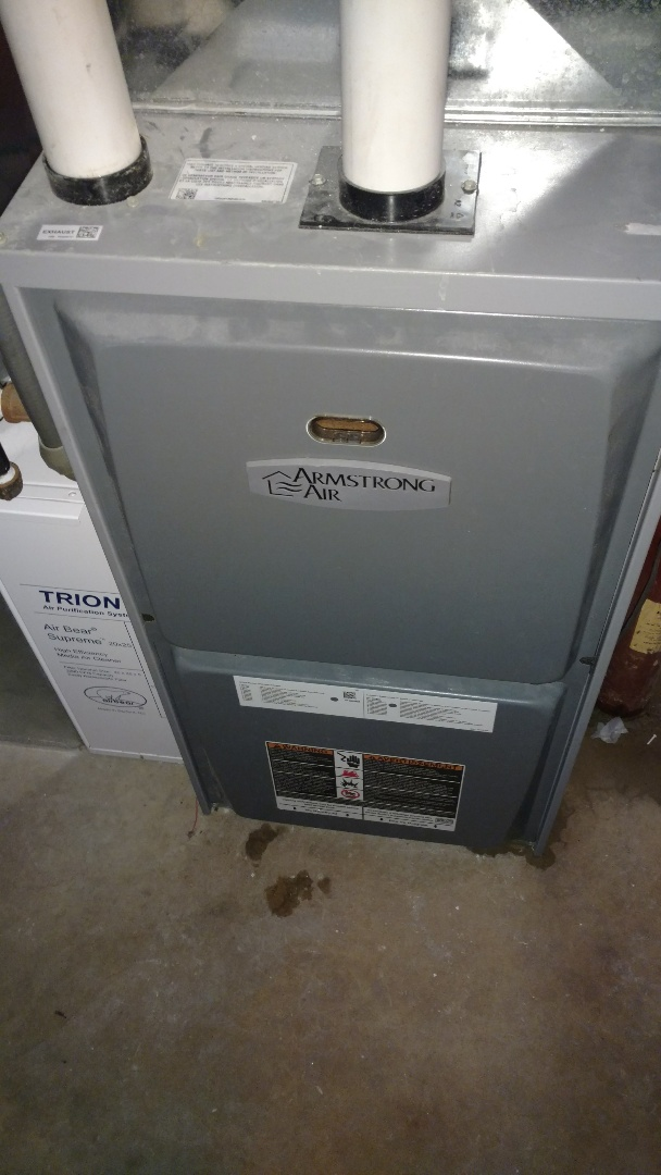 Replace weak pressure switch on Armstrong Air AF95 furnace.