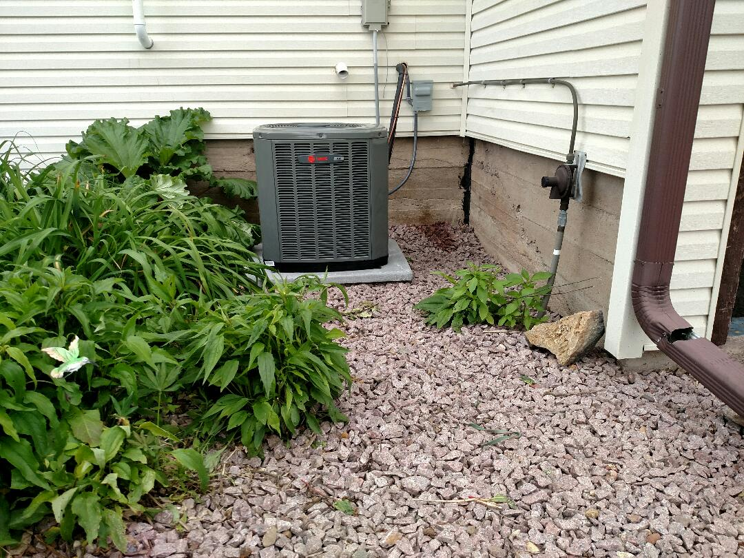 Ogema, WI - Installing new Trane air conditioning system