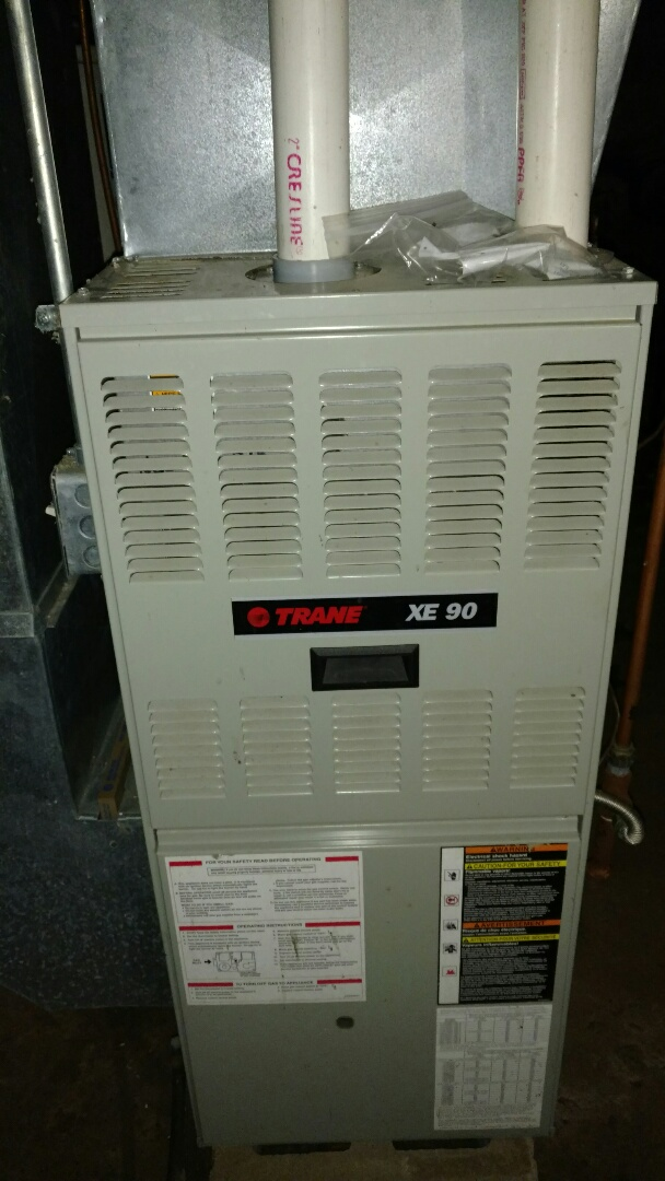 Phillips, WI - Fall furnace check on Trane LP gas furnace. Replace flame sensor and weak blower run capacitor.