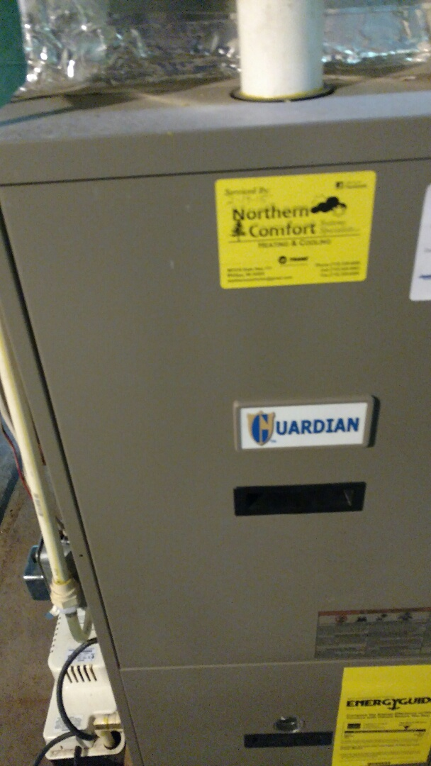 Park Falls, WI - Perform fall furnace check on Luxaire Guardian furnace