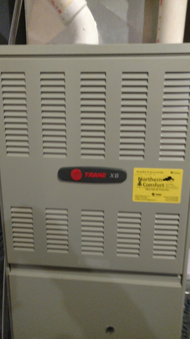 Phillips, WI - Install New Trane XB90 furnace.