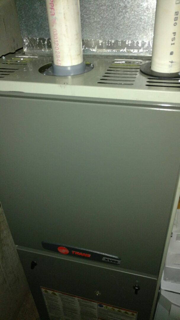 Fifield, WI - Install new Trane XV95 furnace which replaced a Lennox furnace with a failed heat exchanger