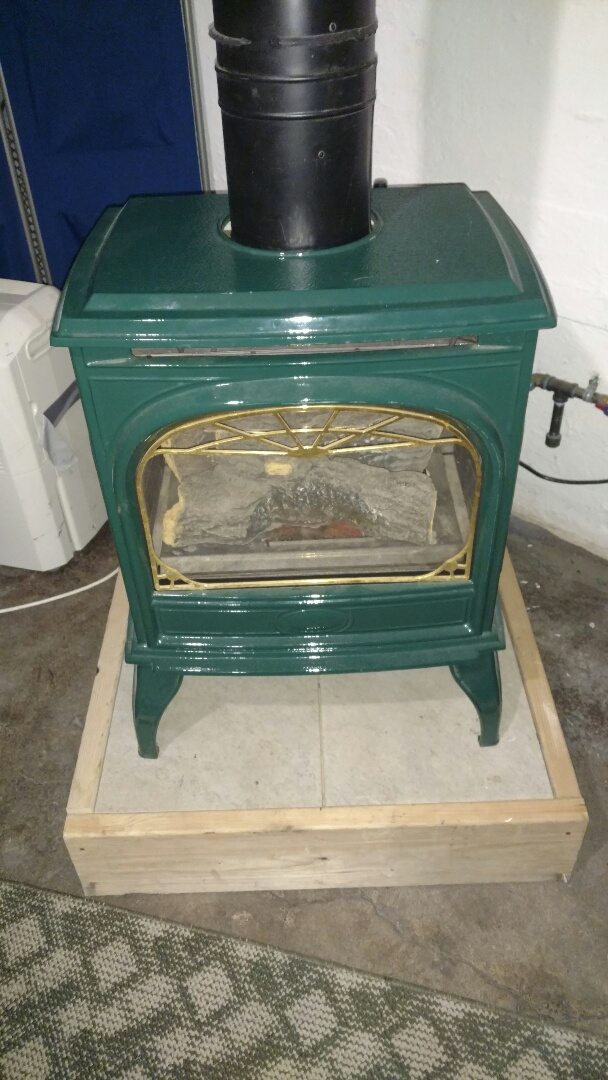 Prentice, WI - Repair gas leak on Vermont Casting free standing fireplace.