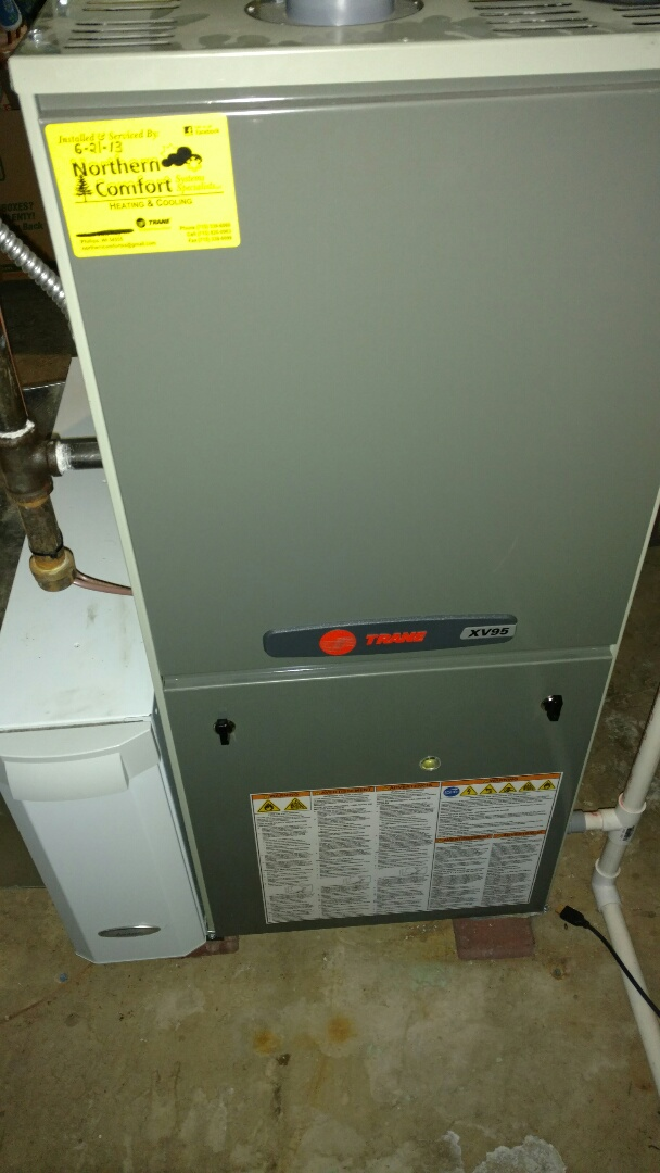 Butternut, WI - Perform preventive maintenance check on Trane xv95 furnace. Replace Aprilaire 413 air filter.