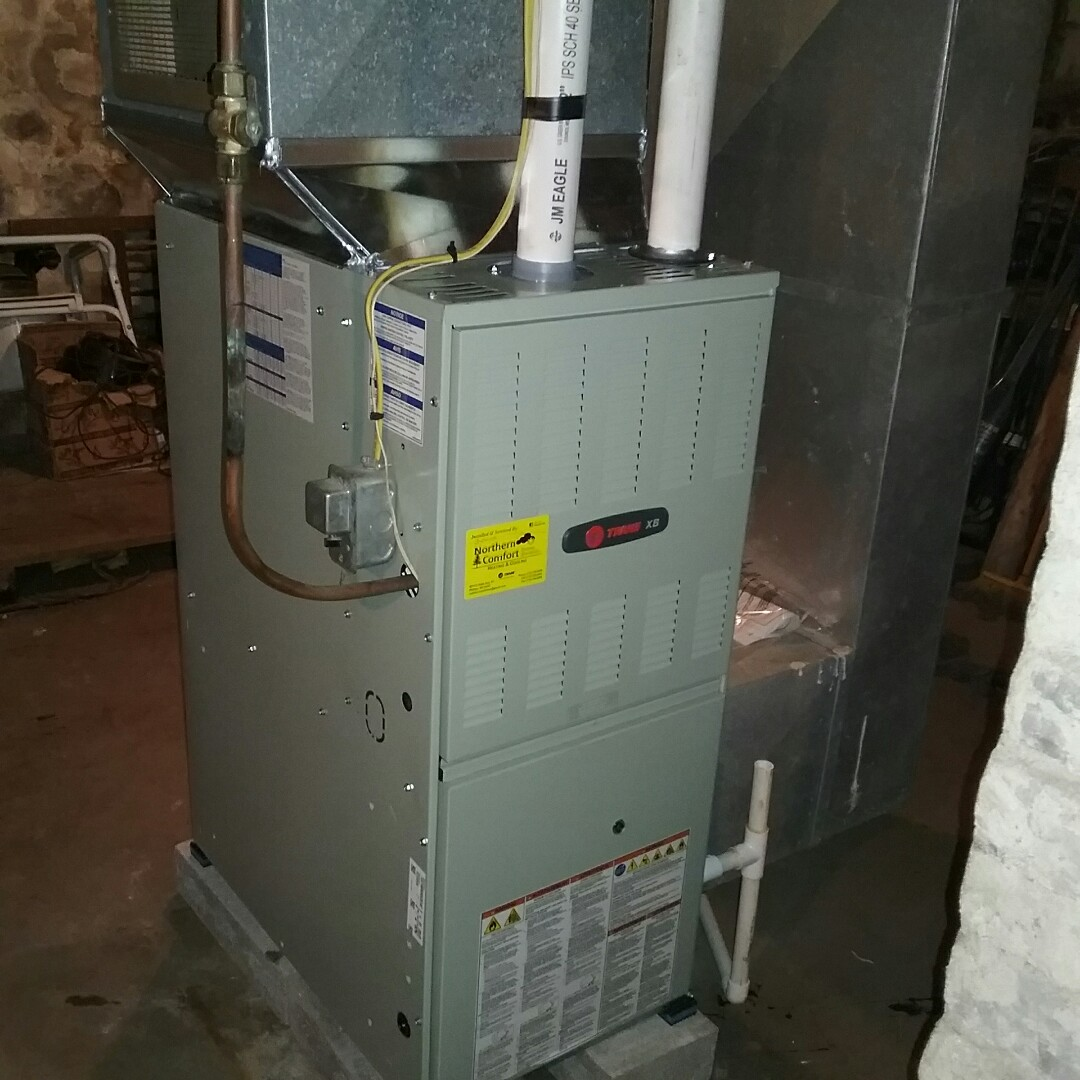 Phillips, WI - Installed new trane furnace