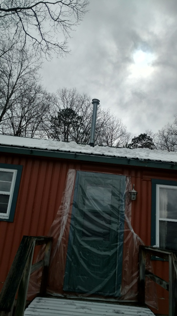 Lac du Flambeau, WI - Replace venting on Quaker space heater. Replace thermocouple.