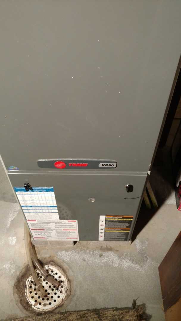 Park Falls, WI - Replace circuit board on Trane XR90 furnace. Perform fall furnace check.