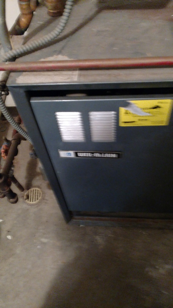 Park Falls, WI - Service Weil McLain HE6 boiler. Replace heat relay.