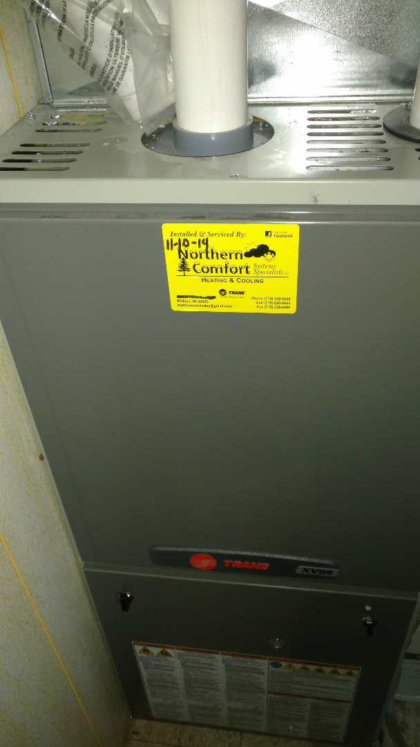 Phillips, WI - Perform preventive maintenance check on Trane xv95 furnace. Replace deteriorated flame sensor.