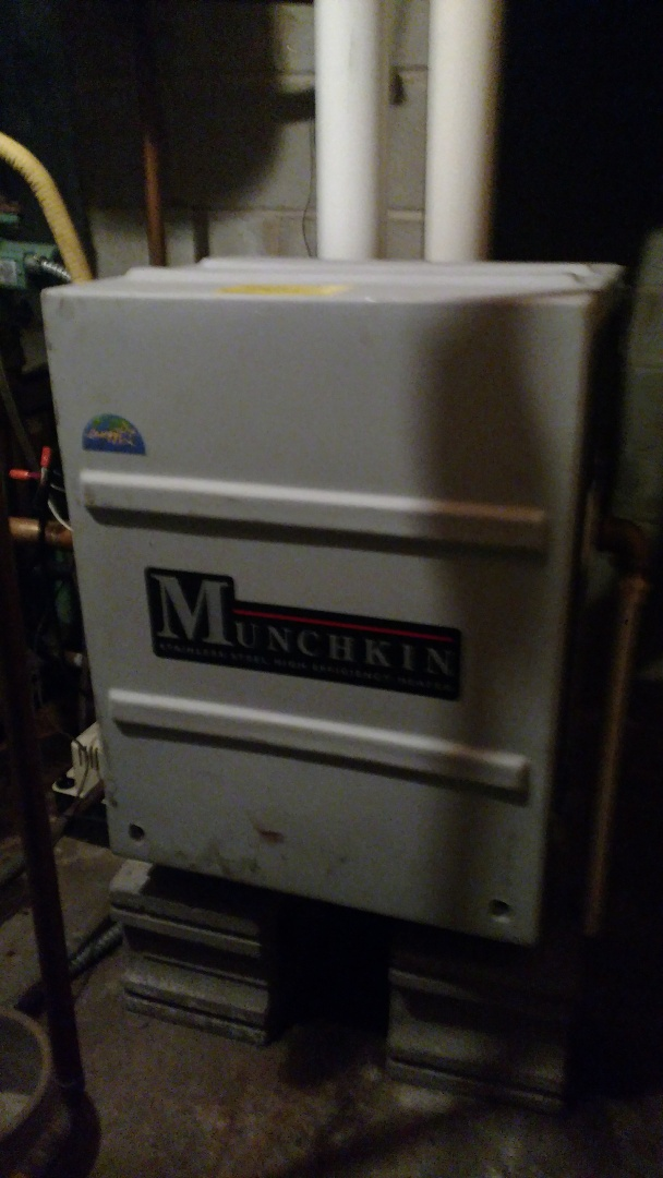 Park Falls, WI - Perform preventive maintenance check on Munchkin gas boiler.