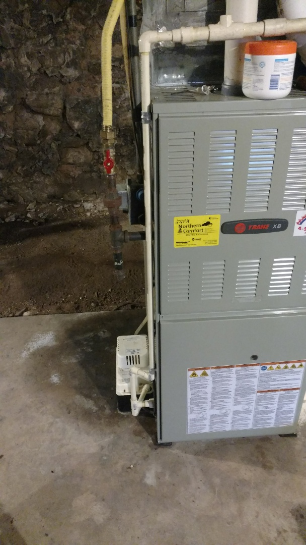 Park Falls, WI - Perform preventive maintenance check on Trane xb90 LP gas furnace. Install new carbon monoxide detector.