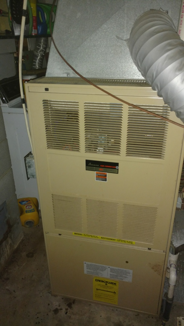 Replace circuit board and Service switch on Amana Air Command LP gas furnace.