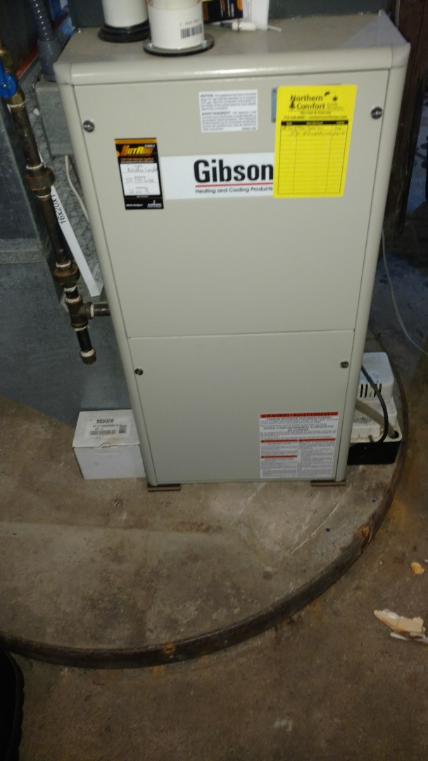 Conrath, WI - Replace ignitor on Gibson furnace.