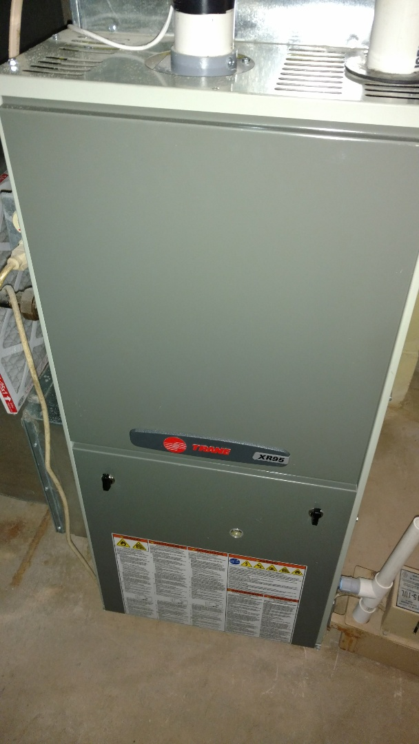 Hayward, WI - Perform efficiency test on Trane XR95 gas furnace.