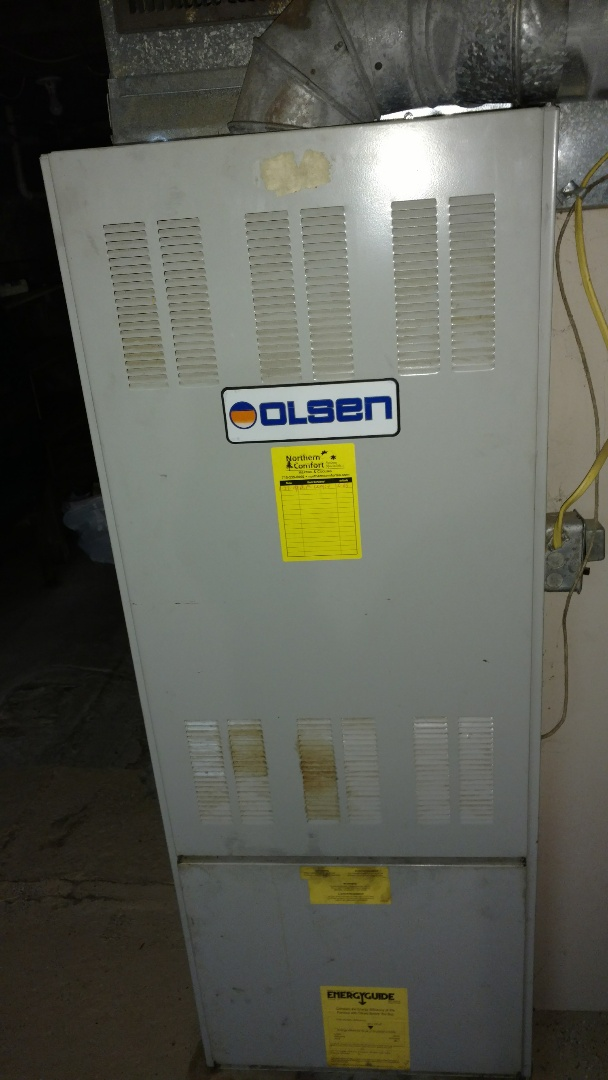 Glen Flora, WI - Perform preventive maintenance check on Duo Matic Olson Oil furnace.