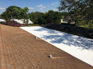Miami, FL - GACO was applied on the Flat Roof of this home in Pinecrest FL