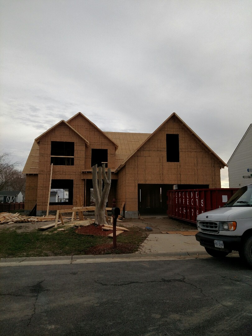 Suffolk, VA - Progress report for client of new home construction.