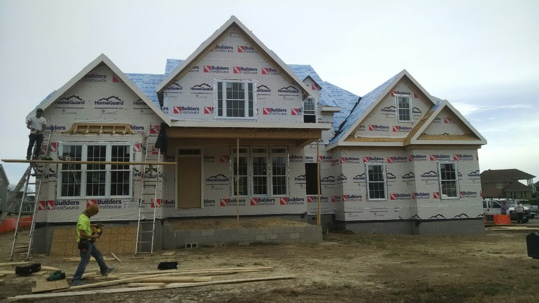 Suffolk, VA - Windows and doors being installed on this executive home in Harbour View....master down....loaded with  luxurious features!