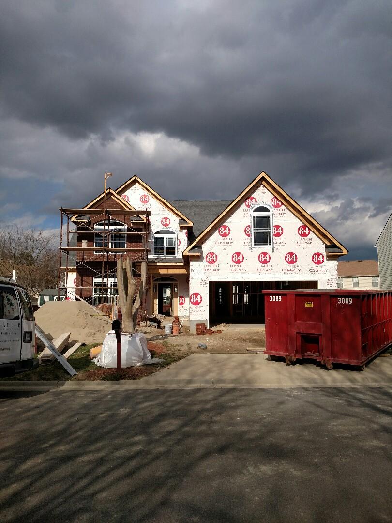 Suffolk, VA - New home brick is started