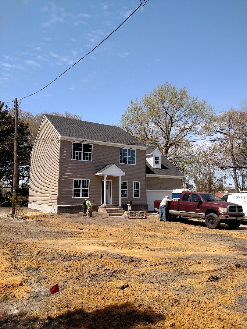 Chesapeake, VA - Grading lot for sold home in Chesapeake