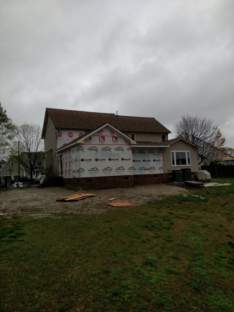 Chesapeake, VA - Windows scheduled, rough in trades starting this week, siding to start in soon.