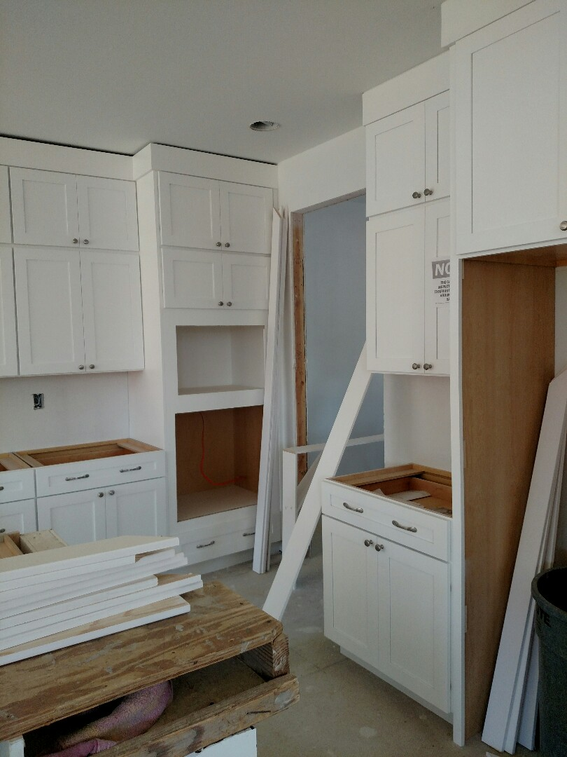 Suffolk, VA - Finishing trim on new construction home in the Riverfront area.