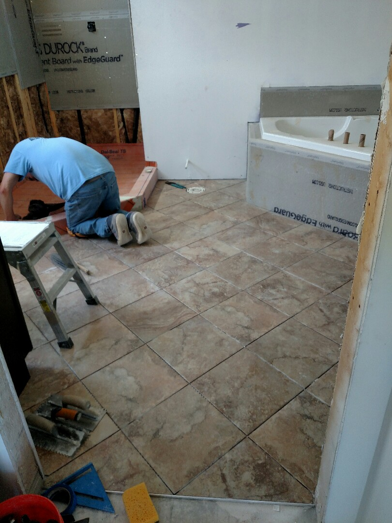 Suffolk, VA - Checking on tile and cabinet subcontractors.