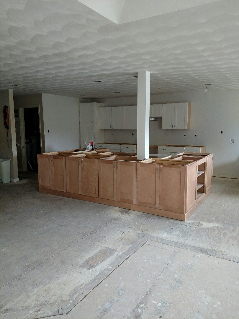 Chesapeake, VA - Cabinets are in.  Countertops to be installed.