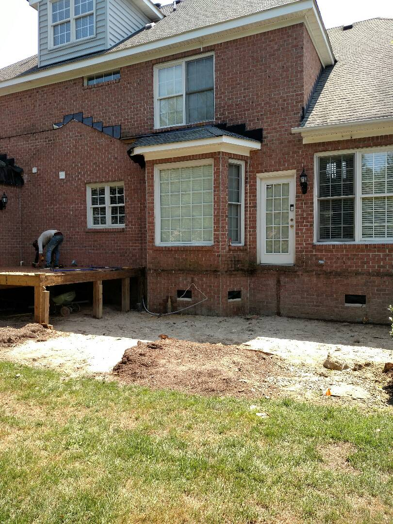 Suffolk, VA - Demo started on our new addition job.