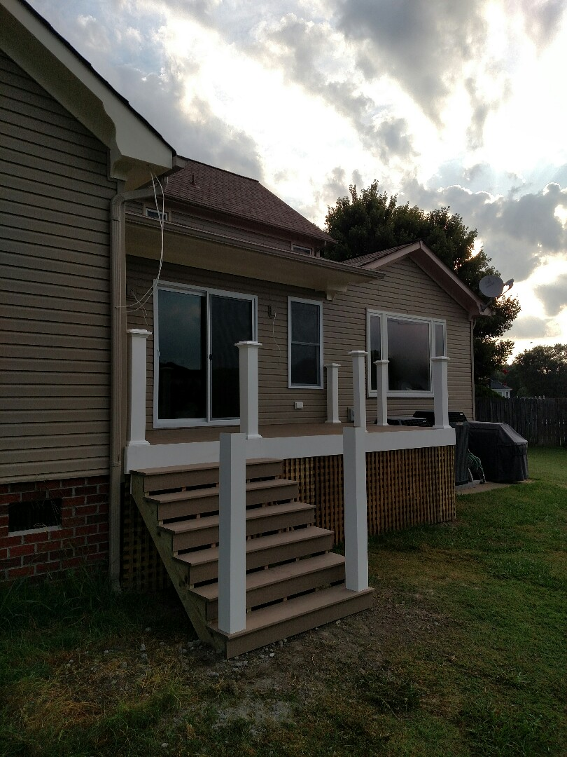 Chesapeake, VA - Finishing deck