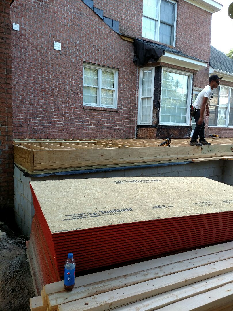 Suffolk, VA - Addition floor to be installed today