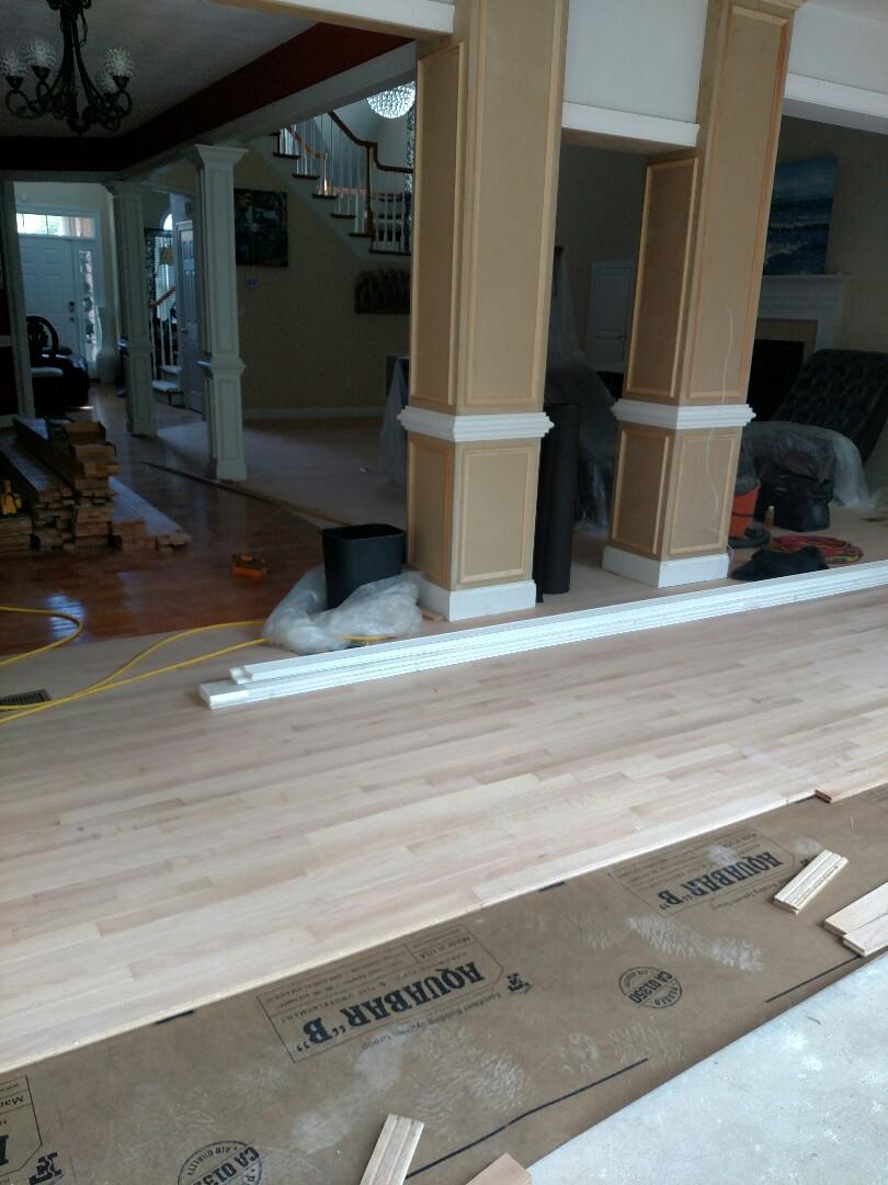 Suffolk, VA - Finishing up the floors