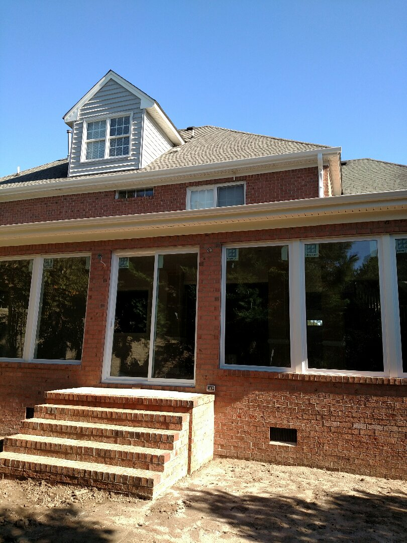 Suffolk, VA - Gutters installed at addition