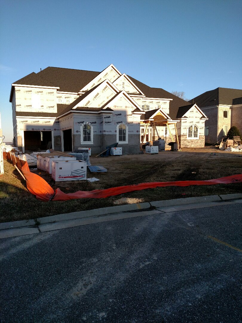 Suffolk, VA - New construction custom home in Suffolk - siding to start today