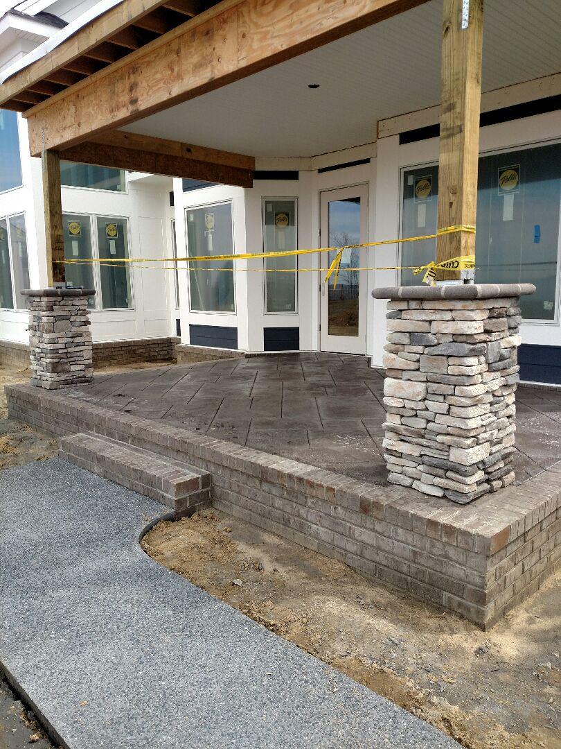 Suffolk, VA - Custom home stamped concrete done.