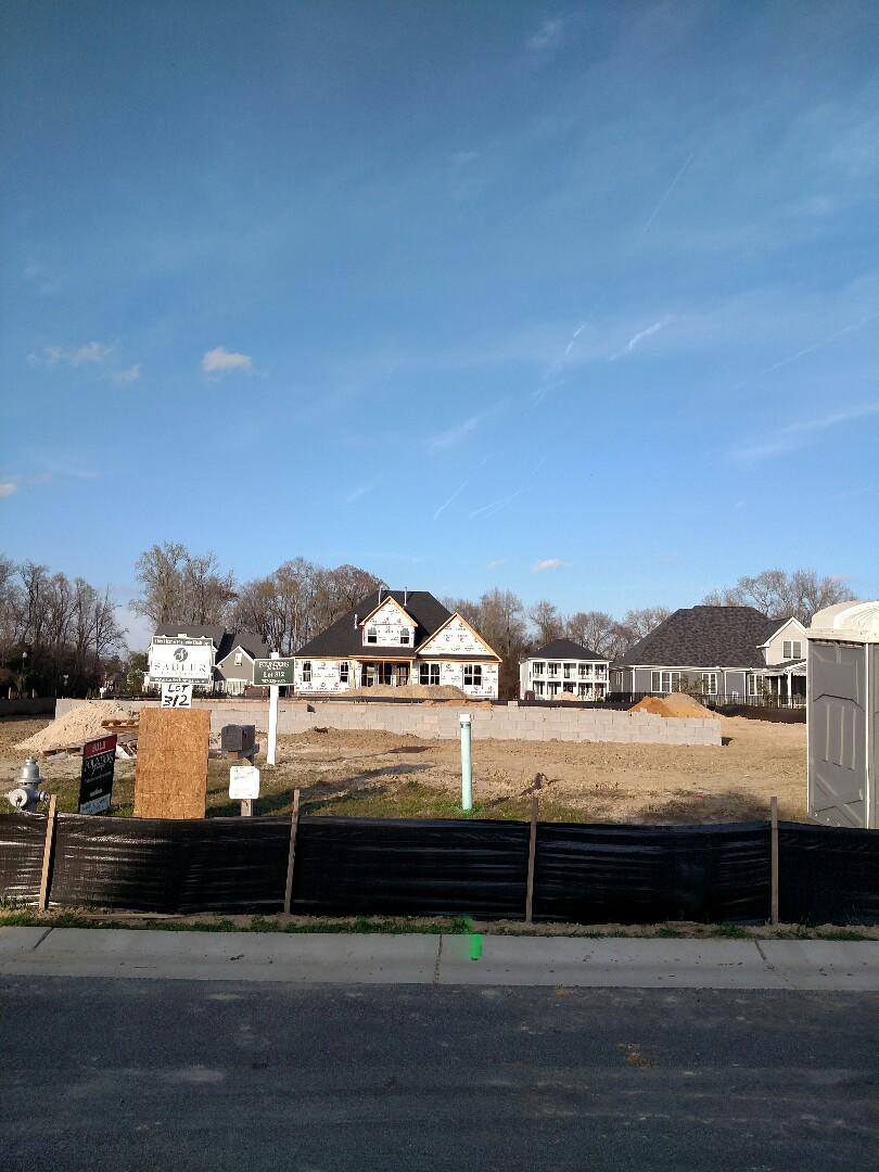 Carrollton, VA - Custom home started.  Foundation in.  M