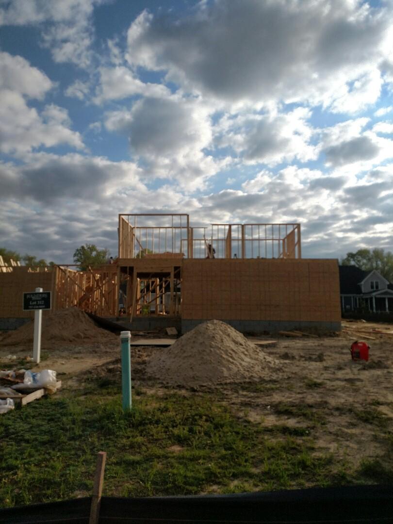 Carrollton, VA - Custom home new construction framing started