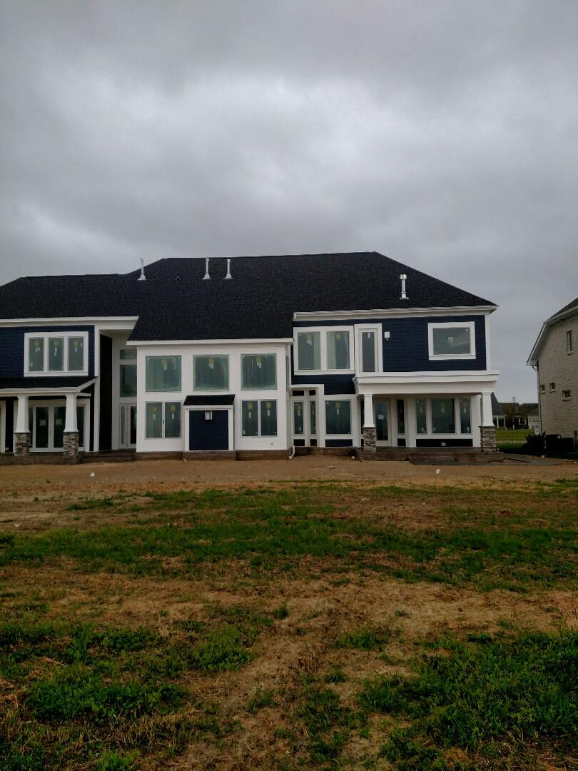 Suffolk, VA - Custom home on the water finishing up