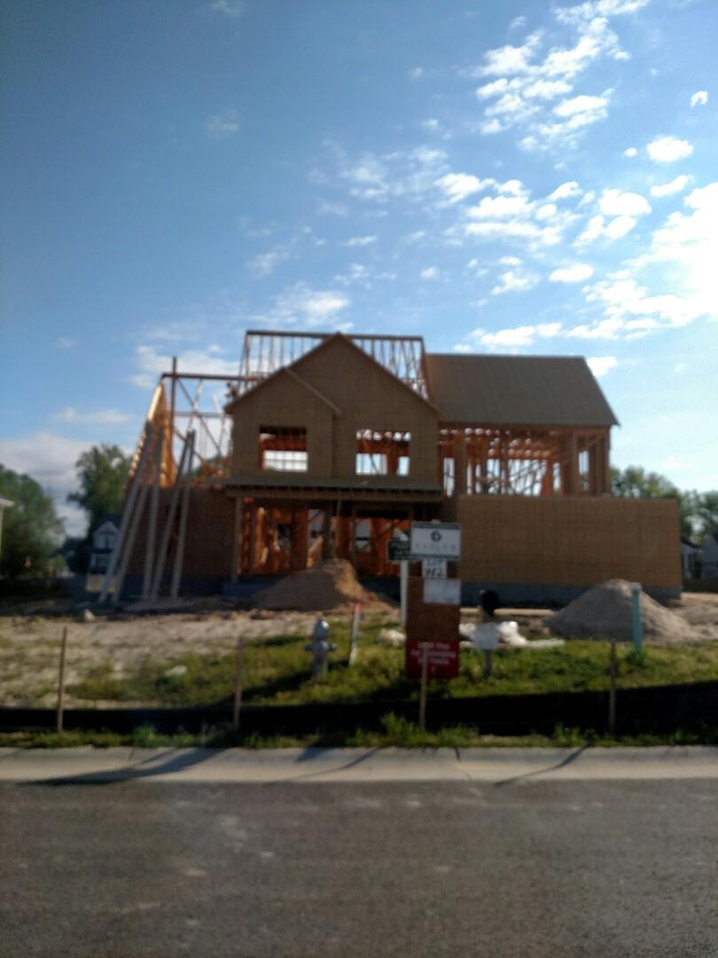 Carrollton, VA - Custom home new construction framing now.