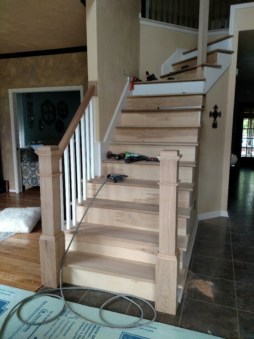 Chesapeake, VA - Custom Remodel stairs