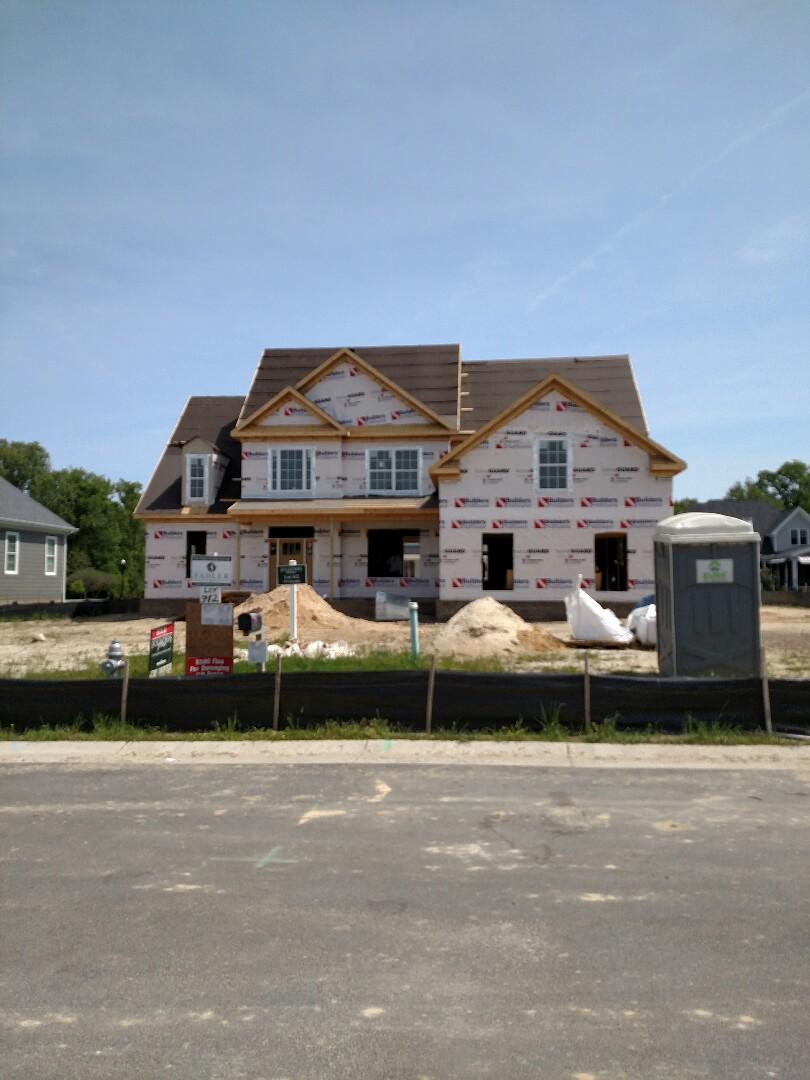Carrollton, VA - Custom home new construction windows being installed