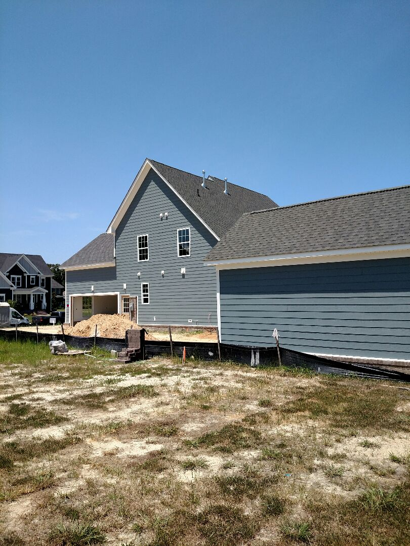Carrollton, VA - Custom home with detached garage  - sided the garage today