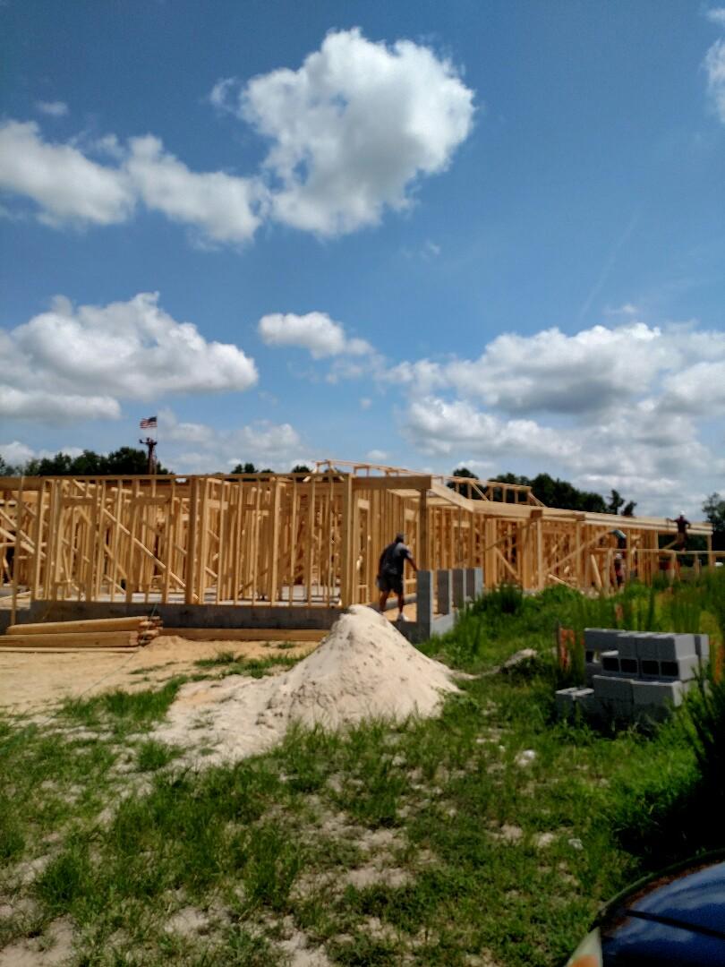 Suffolk, VA - Custom home being framed