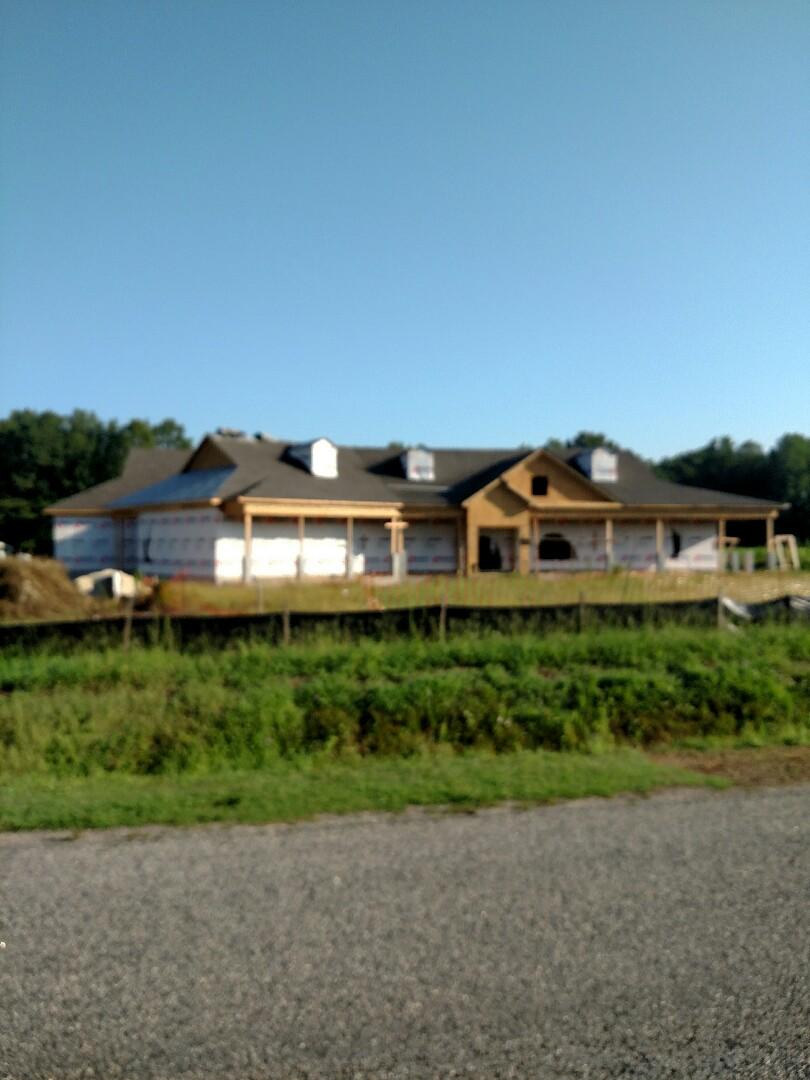 Suffolk, VA - Custom Ranch new construction in the framing stage