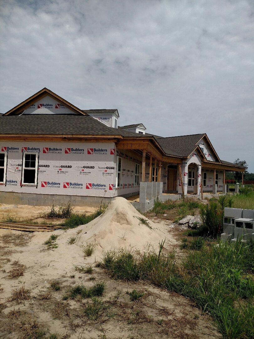 Suffolk, VA - Custom home new construction scheduled to start the brick next