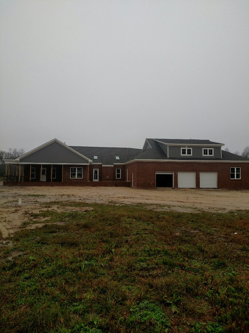 Suffolk, VA - Rear elevation of Custom home in Suffolk