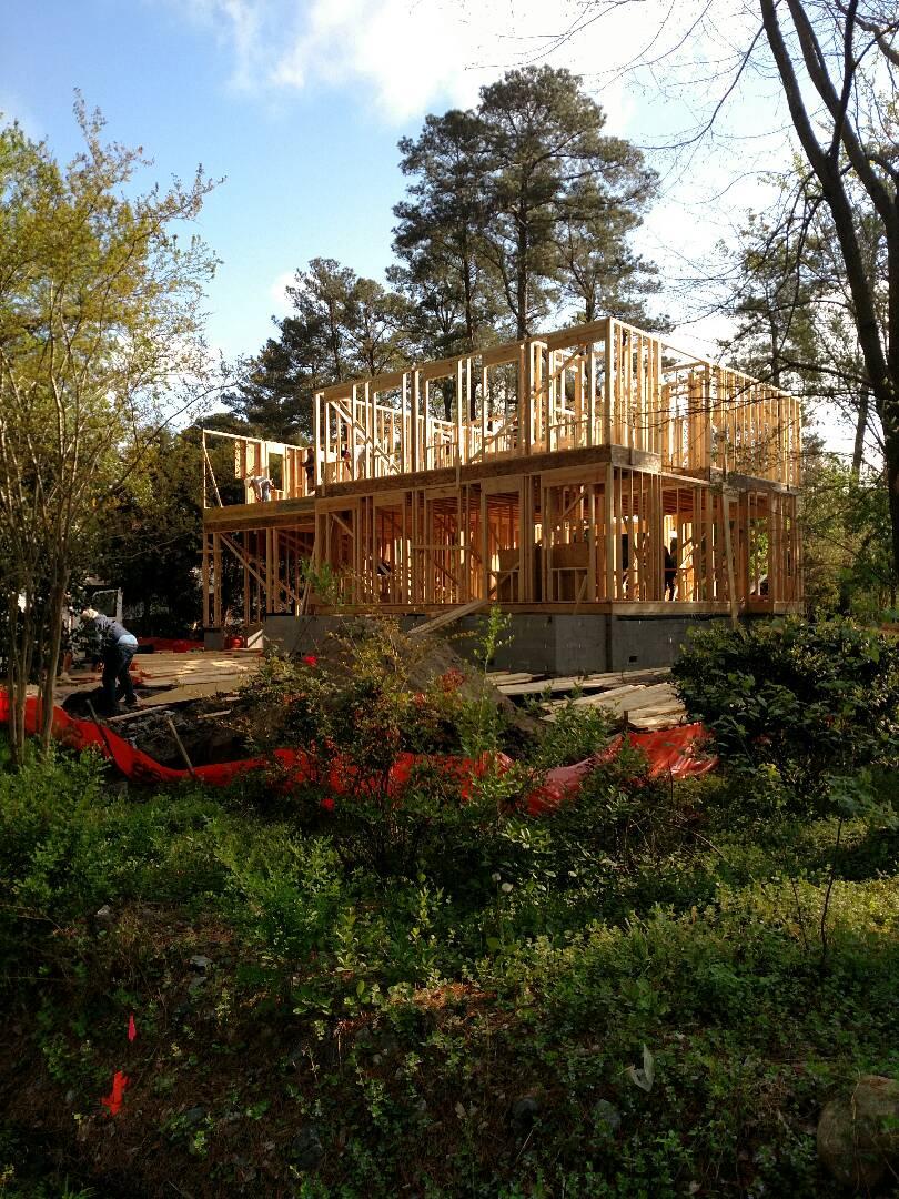 Chesapeake, VA - Custom home framing now